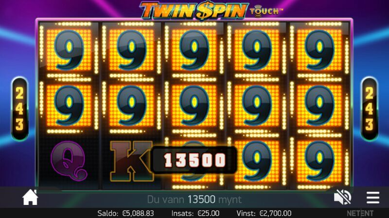 big win on twin spin mobile
