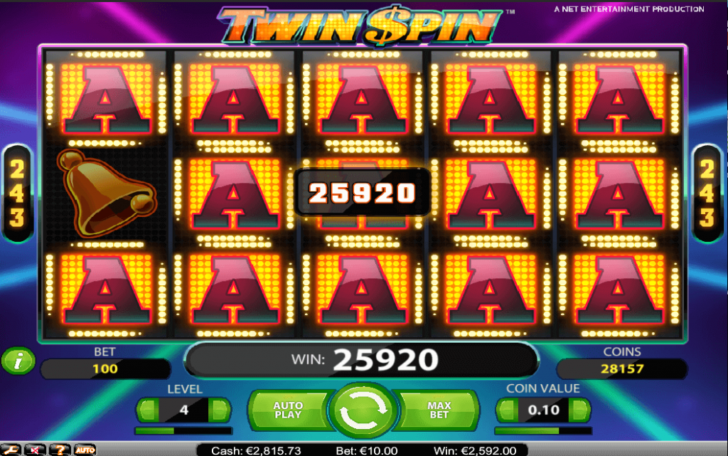 big win on the twin spin online pokie