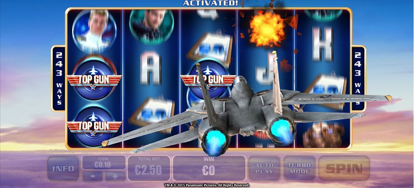 Top Gun Slot by Playtech - Play it Free Online
